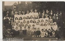 Salvation Army Group with Children Real Photo Postcard, B522