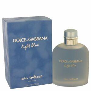 Light Blue Eau Intense by Dolce & Gabbana 6.7 oz Eau De Parfum Spray for Men