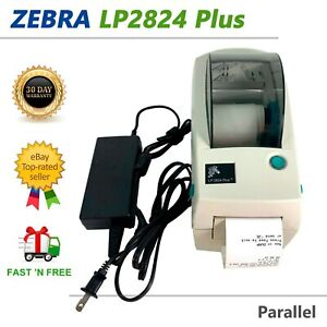 Zebra LP2824 Plus Compact Direct Thermal Label Printer with AC Adapter