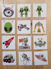 Set di 12 Tatuaggi Temporanei Spazio Alieno