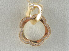 """18K Diamond Necklace Rose Gold PASQUALE BRUNI 18"""" G/VS Link Chain Lobster Claw"""