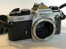 Nikon FE2 35mm SLR Film Camera Body ** Works Great But Cosmetically UGLY! **
