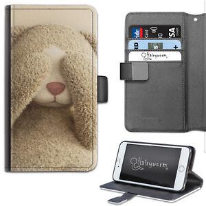 Peek A Boo Teddy Bear PU Leather Wallet Phone Case, Flip Case, phone case