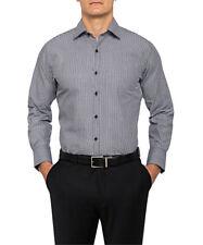 Van Heusen Men's European Fit Shirt Yarn Dyed Stripe Cotton Polyester (E160)