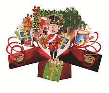 Nutcracker Petite Christmas Pop-Up Greeting Card Second Nature 3D Pop Up Cards