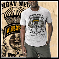 Army Combat Medic MOS 68W EFMB Airborne Paratrooper 91 Bravo Med Spec T-Shirt