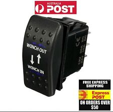 WINCH SWITCH 12V 20A 7P winch in winch out Blue  Light carling switch arb 4x4