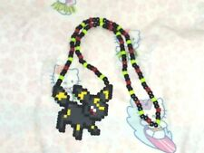 Handmade Pokemon Umbreon Kandi Perler Necklace Mardigra Fest Rave Dance FREE SH