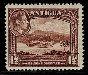 ANTIGUA GVI SG100a, 1½d dull reddish-brown, LH MINT.