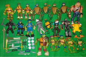 Teenage Mutant Ninja Turtles Action Figure Job-Lot Bundle TMNT Mattel Playmates