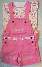 Nanette Baby Girl 2 Pc Shorts Overall Set.Size 18 Months.  NWT