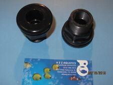 "1"" Bulkhead Fitting Socket x Thread - High Quality Black ABS"