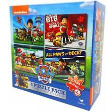Paw Patrol 4 Puzzle Pack Childrens/Kids Jigsaw Box Set