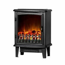Devanti Portable Electric Fireplace Heater 1800W - Black