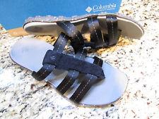 NEW COLUMBIA ORLA BLACK  SLIDE SANDALS WOMENS 8  STYLE: BL4361 FREE SHIP
