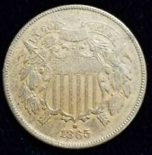 1865 Two Cent Piece 2c in AU/BU - BU Uncirculated Condition Nice Surfaces