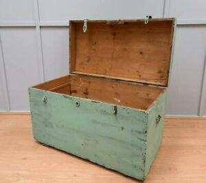 Vintage Hungarian Wooden Trunk