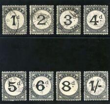 Trinidad 1923 KGV Postage Due set complete very fine used. SG D18-25. Sc J1-J8.