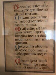 Original, large vellum leaf from a ca. 1500 Spanish Missal