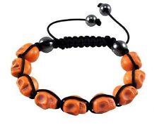 SALE! Handcrafted Orange Skull Skeleton DOD Hip Hop Style Bracelet Balla Jewelry