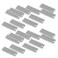 20x Metal Rectangle Blank Coin Engraving Stamping Charms Tag Pendant 25x9mm