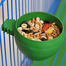 Bird Parrot Pet Cage Aviary Plastic Round Food Feeding Bowl Cup Supply Random