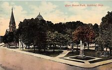 Ohio postcard Ashland, Court House Park ca 1917