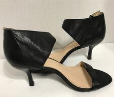 Nine West Leather Ankle Strsp Open Top Heels 8.5 M
