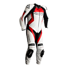 RST Tractech Evo 4 White/Red CE Approved 1PC Motorbike Leather Racing Suit