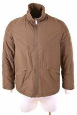 DIESEL Mens Windbreaker Jacket Size 40 Large Green Cotton  LJ01