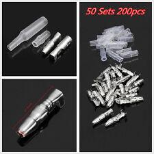 Autos Car 50pcs 4.0mm Male & Female Bullet Socket Crimp Terminal Wire Connectors