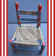 Reduced: -$4 A Pretty Little Hand-painted Chair for Little Souls Dolls