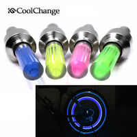 4pcs Cycling Bike Bicycle Valve Caps Flash Light Tyre Wheel Neon Cool LED Lamp