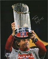 "Tony La Russa St. Louis Cardinals Signed 8"" x 10"" 2011 World Series Trophy Photo"