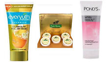 pure roots gold facial kit 100g,ponds white beauty facewash50g,everyuth mask 30g