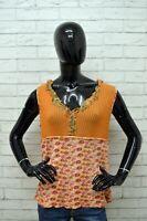 Maglia MARLBORO CLASSICS Donna Taglia XXL Maglietta Shirt Woman Cotone Arancione