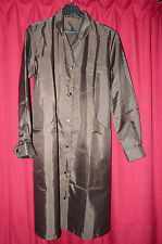 womans nylon overall shiny brown long sleeve rustling noisey TV