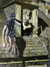Vintage Art NC Wyeth Barbara Frietchie Paul Revere's Ride Patriot Revolution US