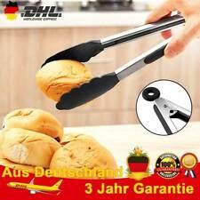3er Set Edelstahl-Grillzange 34cm lang Kochzange Nudel Zange Küchen Grillzubehör