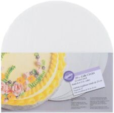 Cake Circles 10 In 12 Pack Bottom Layer Round White Corrugated Card Board New