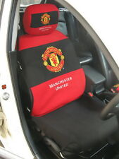 Manchester United Car Accessory : Full Car Seat Cover + Head Rest Cover #Red
