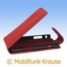 Flip Case Etui Handytasche Tasche Hülle f. Samsung GT-S5260 / S5260 (Rot)