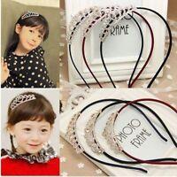 Princess Tiaras Rhinestone Kids Headbands Crowns Butterflies Hair Accessories