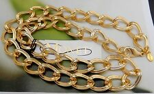 """MONET GOLD PLATED BIG OVAL LINK NECKLACE 18 3/4""""  NEW WITH TAGS VINTAGE #577U"""