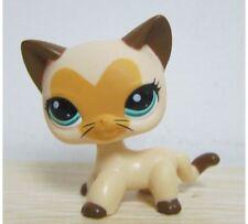 Littlest Pet Shop LPS 3573 Short Hair Cat Kitty Heart Face Tan Brown USA Seller