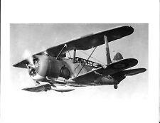 """WWII 2669M CAMO BIPLANE AIRPLANE (NX-C5) 5"""" x 7"""" B&W Photograph"""