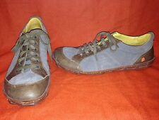 Army Green Leather & Suede The Art Company Street Shoes 12