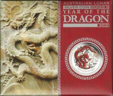 2012 Australia $1 Year of the Dragon 1oz Coloured Silver Proof