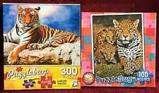 Puzzlebug 100 and 300 Pieces 2-Puzzle Lot ~ Big Cats Theme Jigsaw Puzzles