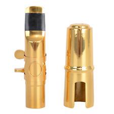New #7 Gold Alto Saxophone Sax Metal Mouthpiece with Cap Ligature